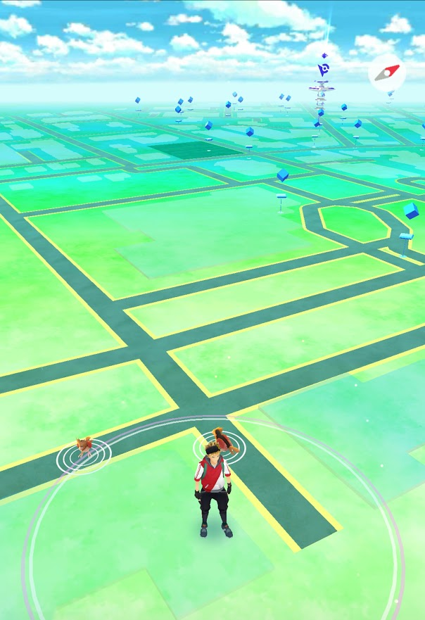 The view from the map in Pokemon Go