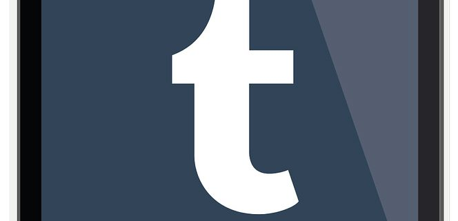 Tumblr blogging platform on mobile.