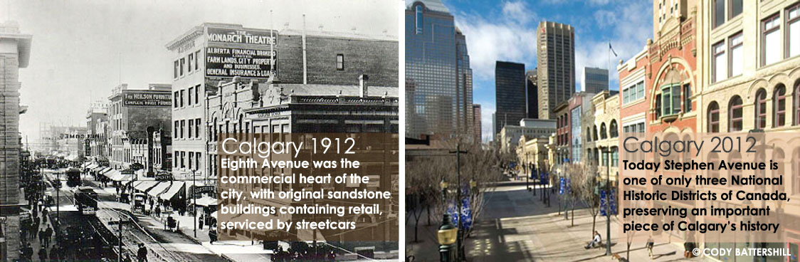 Calgary then and now
